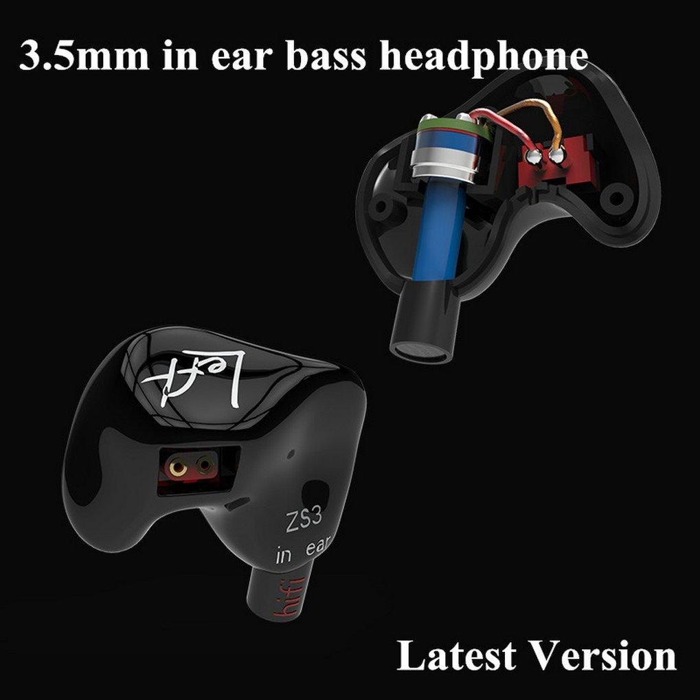 GuDoQi KZZS3 - Auriculares in-Ear con cancelación de Ruido, estéreo, Deportivos, para Correr No Mic Negro: Amazon.es: Electrónica