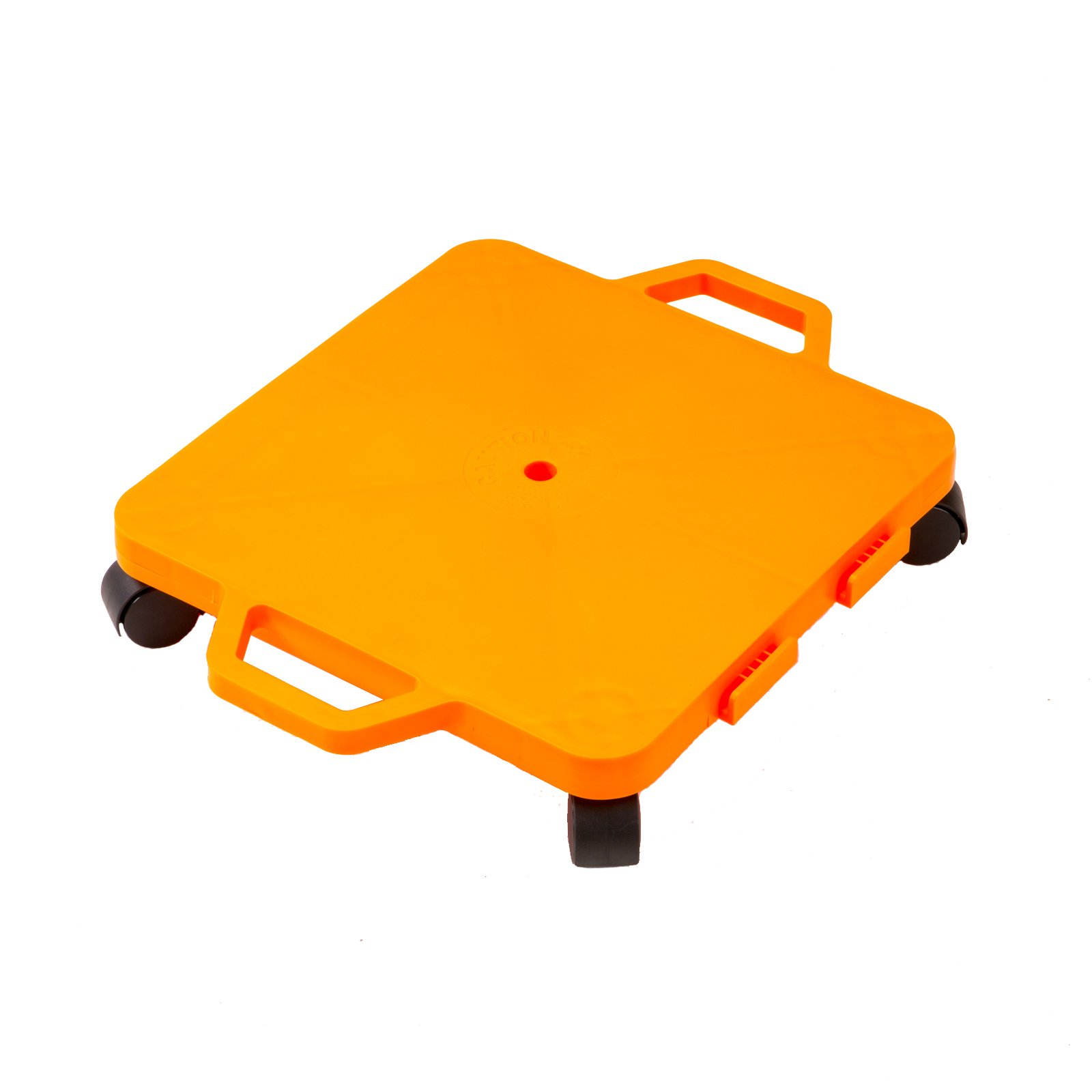 Cosom Scooter Board, 16 Inch Children's Sit & Scoot Board with 2 Inch Non-Marring Nylon Casters & Safety Guards for Physical Education Class, Sliding Boards with Safety Handles, Orange