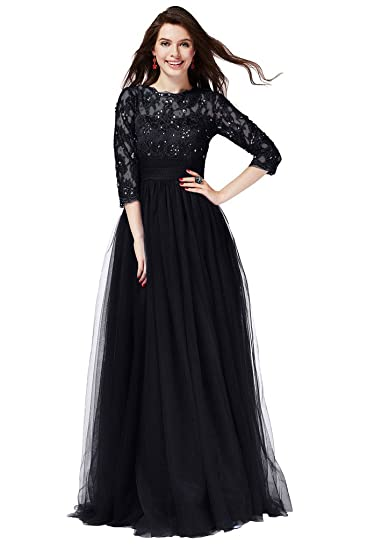 Gorgeous Bride Elegant Lace 3/4 Sleeves Short Formal Evening Prom Dresses-UK Size
