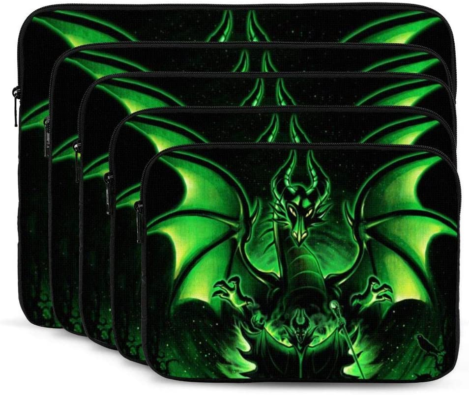 Fairy Tales Maleficent Laptop Sleeve Case Classic Notebook Computer Bag Slim Tablet Briefcase Business Travel Outdoor Black 12 inch