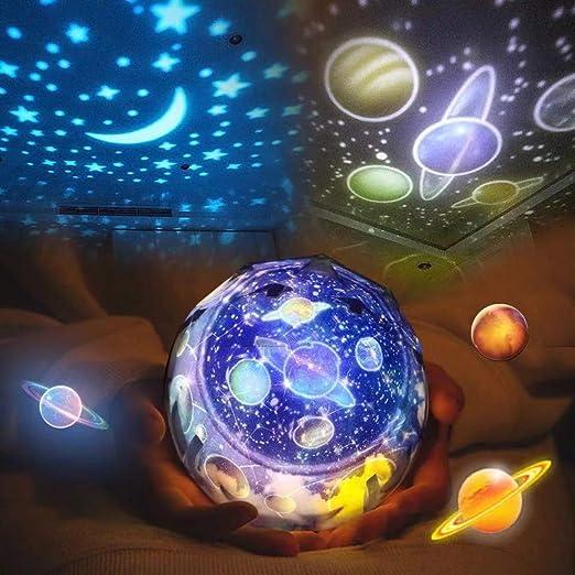 Maod Lámpara de Noche con proyector de Cielo Estrellado para niños ...