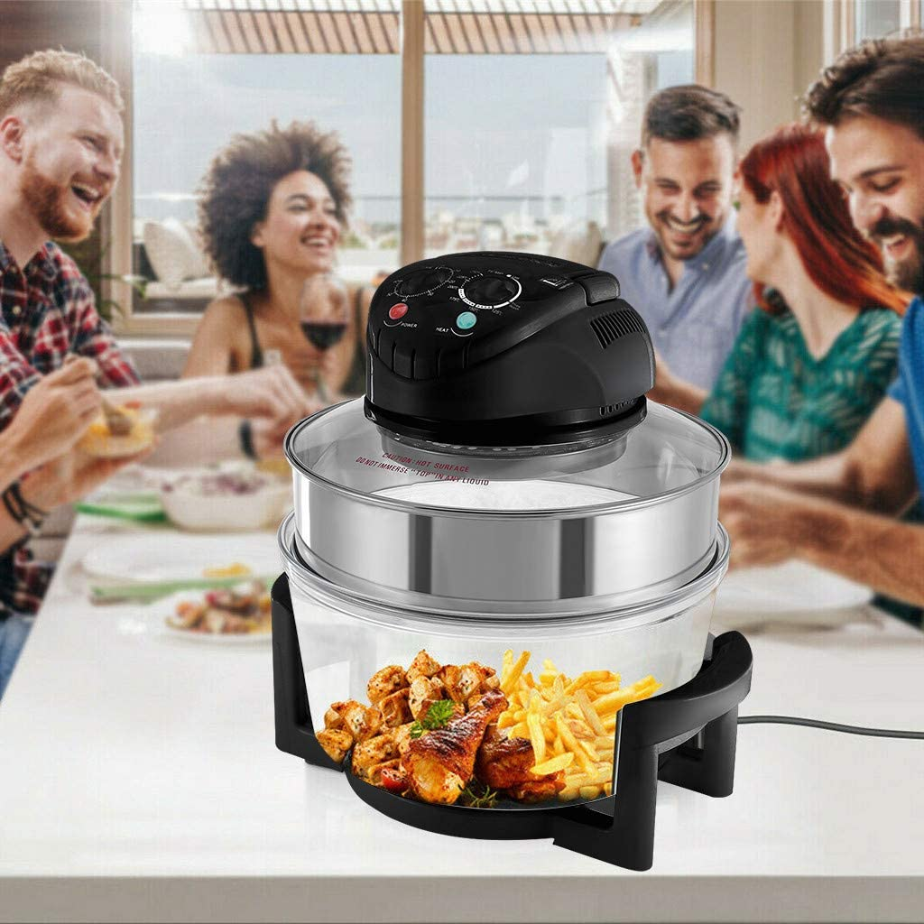 Air Fryer Oven - 12L Air Fryer with Rotisserie,1400W Air Fryer Toaster Oven Combo,Digital Large Air Fryer,Oilless Cooker