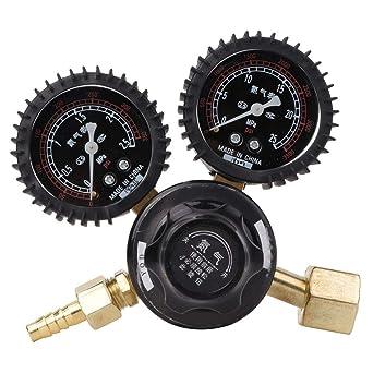 Keenso Druckminderventil 1//2Messing-Wasserdruckminderventil mit Messger/ät Einstellbarer Wasserdurchfluss