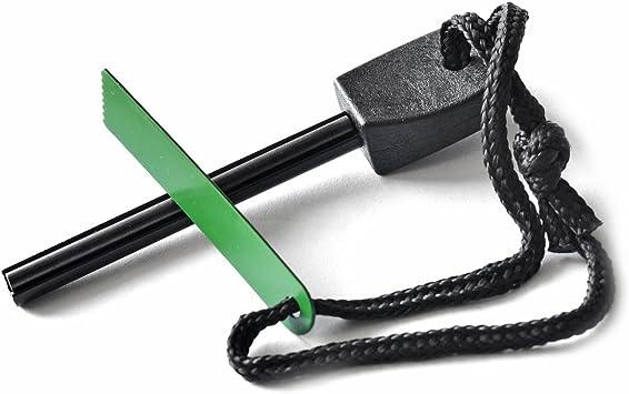 Firesteel 12000 disparos longitud 10,5cm Arrancador de fuego Magnesio del Iniciador de fuego encendedor de fuego de la piedra del acero supervivencia al aire libre que acampa ligero Grenhaven