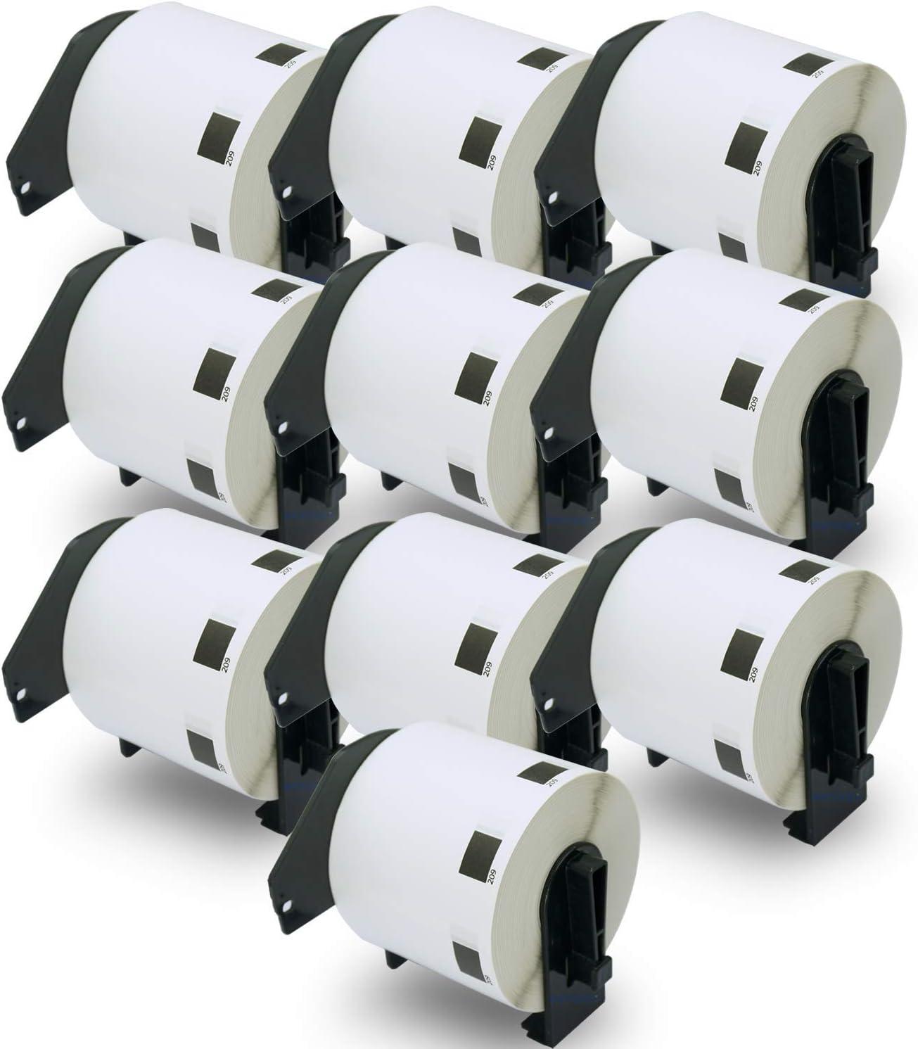29mm x 90mm Squuido 10 rollos DK-11201 DK11201 Etiquetas compatibles para Brother P-Touch QL-500 QL-550 QL-560 QL-570 QL-580 QL-700 QL-800 QL-810W QL-820NWB QL-1100 1110NWB 400 Etiquetas por Rollo