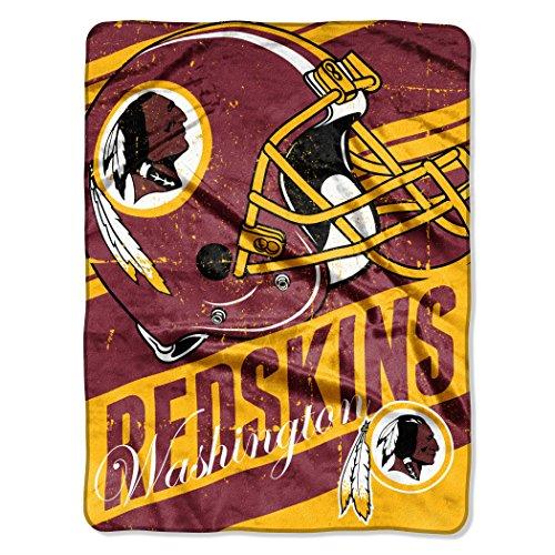 "NFL Washington Redskins Deep Slant Micro Raschel Throw, 46"" x 60"""