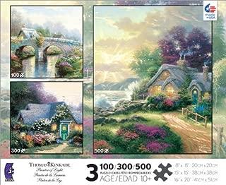 product image for Thomas Kinkade Three Jigsaw Puzzle Set