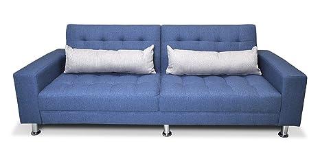 Samira Divano Letto In Tessuto Blue Cobalto Divano 3 Posti Mod