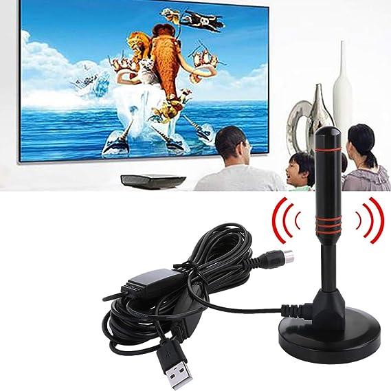 Fansport Antenne DInt/éRieur Num/éRique De Voiture DAntenne DUSB HD TV De Voiture TV avec LAmplificateur
