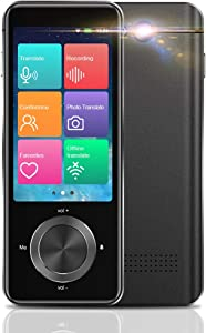 Upgraded Language Translator Device, Portable Voice Translator All Languages 108+ Countries WiFi/Hotspot/Offline Two Way Instant Voice Translator 3.0 Inch Touch Screen