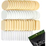 BMC 60 pc Latex Free Makeup Sponges for Full Coverage Powder, Cream, & Liquid Foundation Cosmetics - Long Lasting, Disposable Beauty Blender Foam Applicator Puffs for Sensitive Skin & Professional MUA