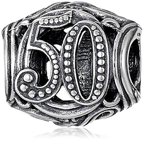 Chamilia Sterling Silver 50 Milestone Bead (Chamilia Bead Jewelry)