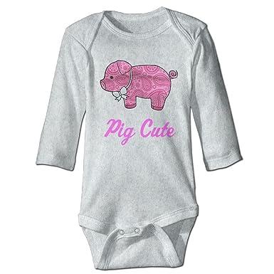 Amazoncom Pig Sea Foam Cute Preppy Animal Baby Bodysuit Clothing