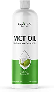 Dr Approved MCT Oil Keto Friendly from Coconut Oil, 2 Months Supply, Coffee Creamer, Brain and Body Fuel, Liquid 32 OZ, Vegan, Gluten-Free, Non-GMO, Unflavored
