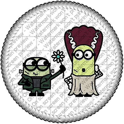 (Halloween Minions Monsters Edible Cake Topper or Cupcake Topper Decorations (2