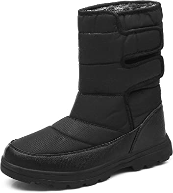 Amazon.com | SONLLEIVOO Mens Snow Boots Winter Boot Waterproof Light Weight  High Top with Fur Lined Outdoor | Snow Boots