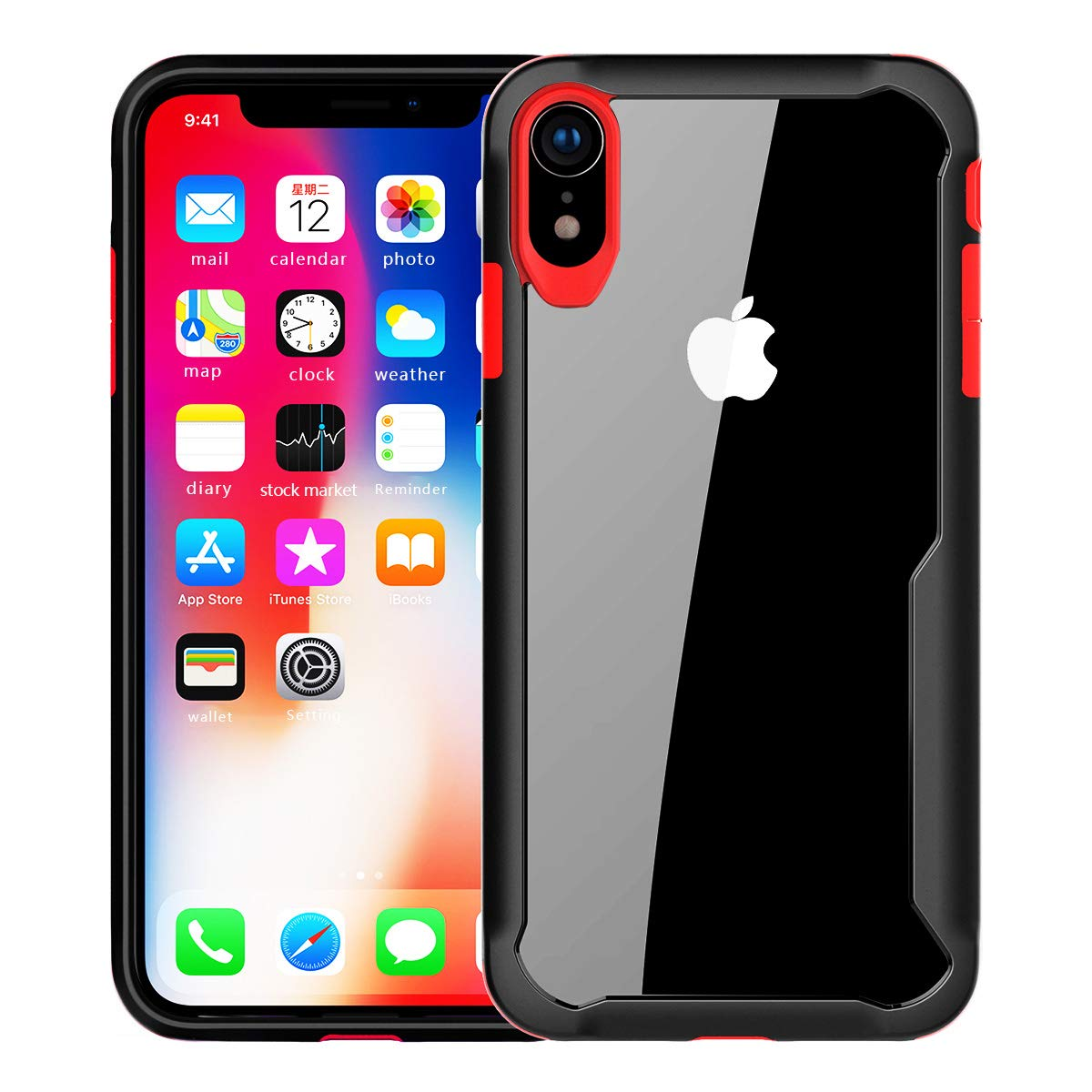 detailed look 95b2a 7ddaa newoer iPhone Xs Max Case, Heavy Duty Shock Absorption Protective Case,  Soft Interior TPU Bumper Cover + Durable Hard Shell PC Back Hybrid Slim  Case ...
