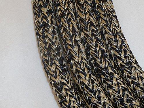 Mecate Rein - Big Sky Tack and Snacks Horse Rope Mecate Reins 22 ft Black Tan