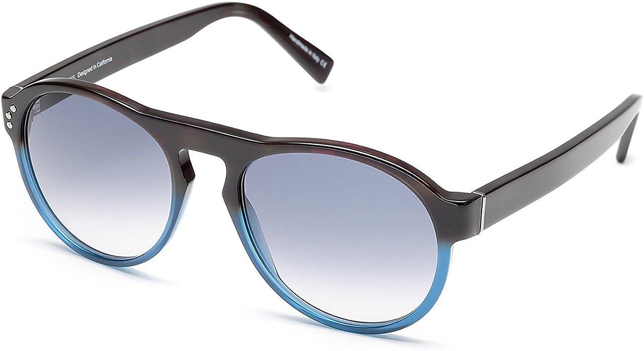 b9abe8c14e SHAUNS California Annan Roadster Sunglasses Bistre to Topaz Blue Gray  Gradient Lens 52-20