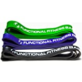 Functional Fitness Set of 3 Pull Up Assistance Resistance Bands, Increase Pullups, eGuide for exercise & crossfit included (Light Medium Heavy Combo Set) Pull up for Adults 100-300lbs: Best Guarantee