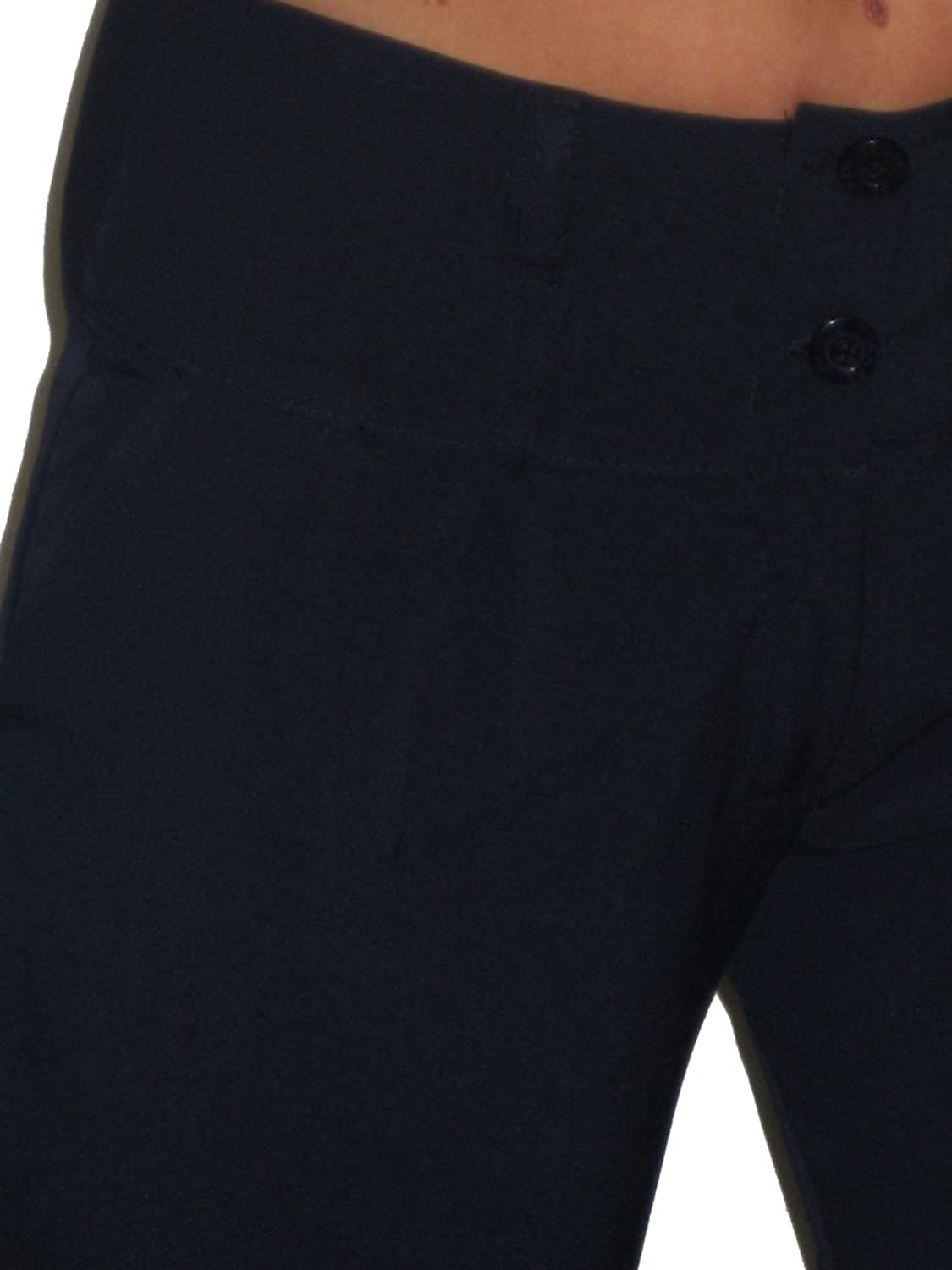 (1272) Wide Leg Smart Day or Office Pants Navy Blue