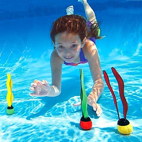 水泳 スイミング おもちゃ プールトイ 海の植物 夏 沈むおもちゃ プール遊び 子ども向け 潜水用 水泳訓練用 プール玩具 3点セット