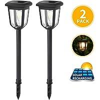 Aigostar Lámpara solar - Lámpara LED para exterior, resistente al agua, luces solares led exterior jardín, IP44…