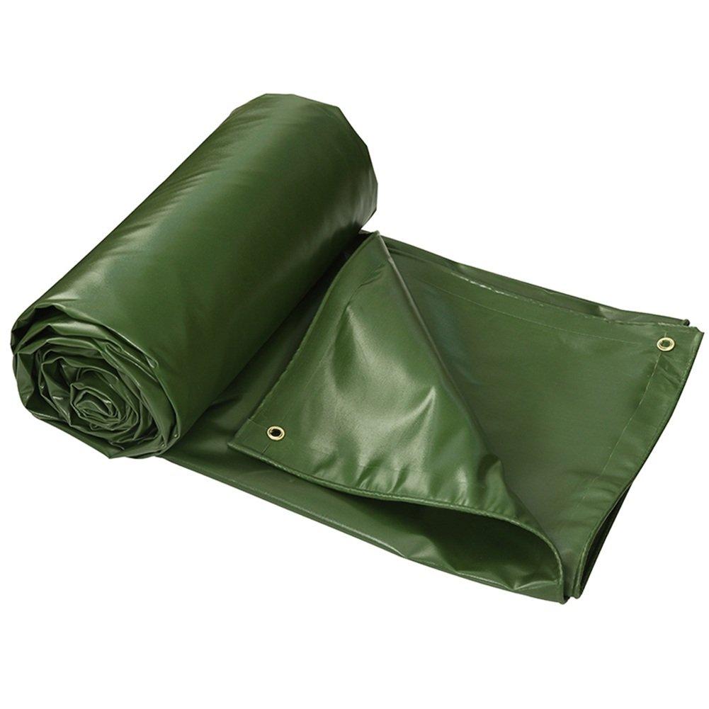 LIXIONG オーニング サンシェード雨布 防水日よけ オイルクロス アウトドア トラック防水シェッドクロス 厚さ0.6mm、 草の緑、 9サイズ ( サイズ さいず : 5x6m ) B07C1XRCFF 5x6m  5x6m