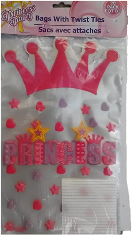 CASTLE PRINCESS BIRTHDAY PARTY GOODIE BAGS ~ PLASTIC CELLO LOOT TREAT GIFT BAG