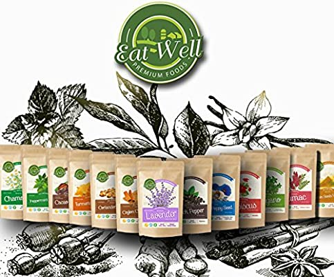 Lavender Flowers | 4 oz Reseable Bag,Bulk | Dried Culinary Lavender Buds, Herbal Tea | Relaxing,Sleep Well | Aromatherapy, Crafts Potpourri,Home Fragrance by Eat Well Premium Foods