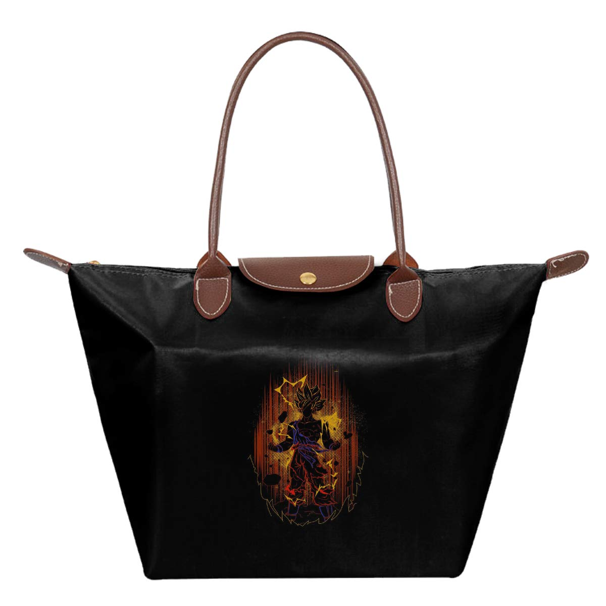 Dragon Ball Z Goku Shadow Waterproof Leather Folded Messenger Nylon Bag Travel Tote Hopping Folding School Handbags