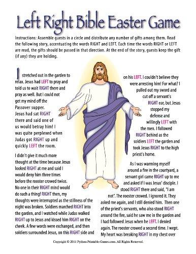 Printable Christian Easter Bible Left-Right Gift Exchange Game (Printable Game)