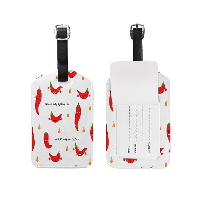 Saobao etiqueta de equipaje de viaje Chili Emoji sin costuras patrón ...
