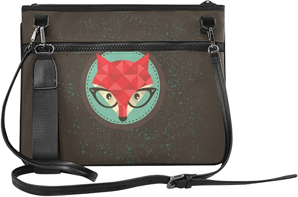 Custom High-grade Nylon Slim Clutch Bag Hipster Fox Cross-body bag Shoulder Bag