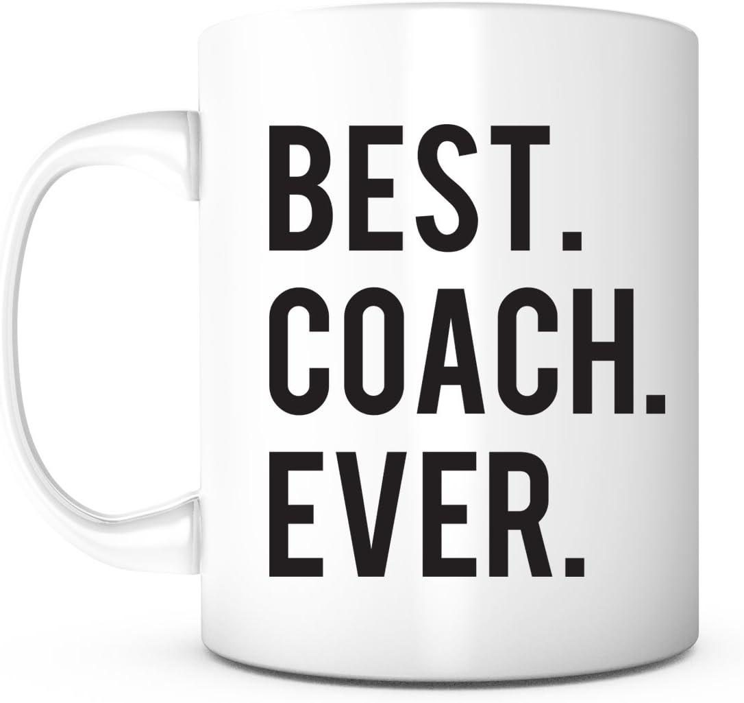 Best Coach Ever-Gift for Coach,Coach Gifts,Coach Birthday Present,Sports Gift,Teacher Appreciation Gift,Coach Thank You,Life Coach,Football Coach,Coffee Mug