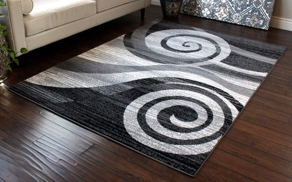 Stephanie Collection Area Rug Modern Contemporary Design 1103 Purple Grey White Mat Masada Rugs 2 Feet X 3 Feet