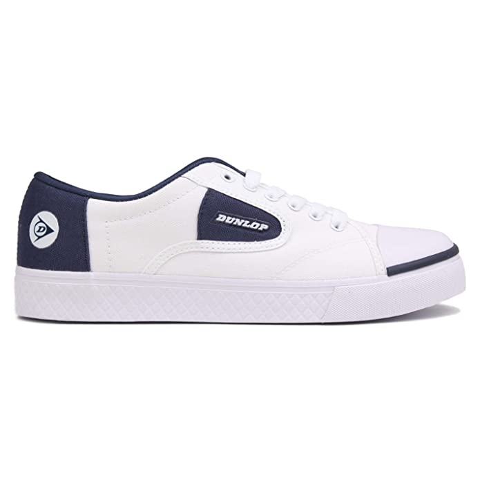 detailed look 7146d fb48c Amazon.com   Dunlop Mens Green Flash Canvas Lo Shoes Trainers Footwear  White Navy UK 12 (46)   Fashion Sneakers