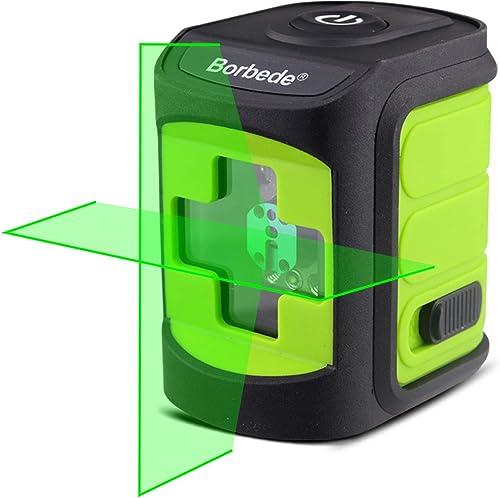 Boebede Green Beam Laser Level Self-Leveling Horizontal and Vertical Cross Lines Portable Mini Level Meter