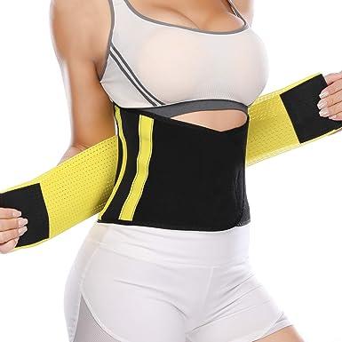 a7dd991331 KIWI RATA Waist Trainer Belly Slimming Belt Tummy Control Body Shaper Back  Support Yellow XL