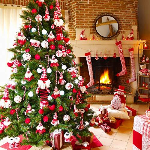 Gudotra 12 pcs Canne de Bonbons de No/ël Rouge et Blanc Rayures Arbre de No/ël D/écoration F/ête D/écorations