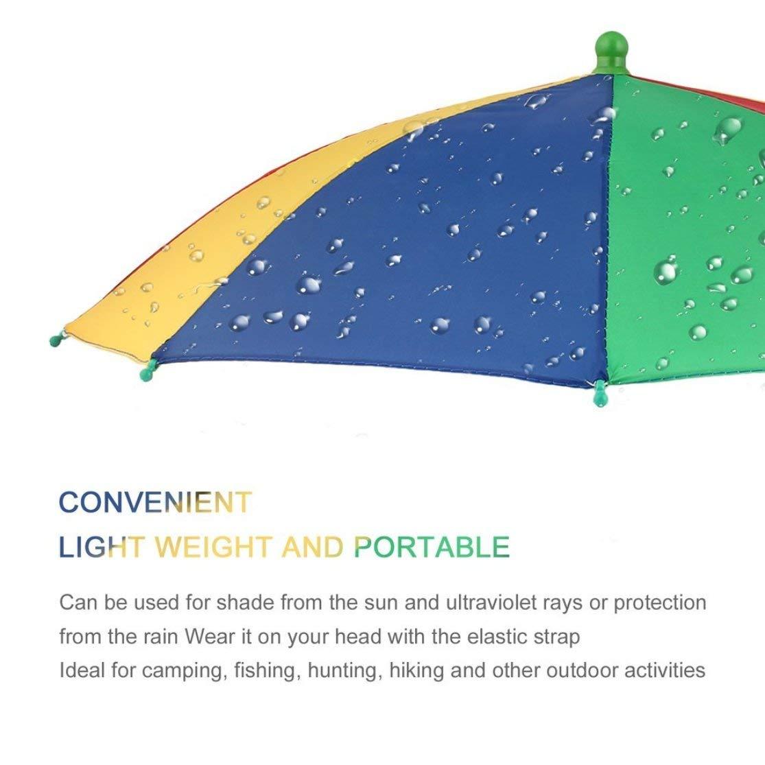 Neue tragbare Regenschirm-Hut-M/ütze Sun Rain Fishing Camping Kaemma