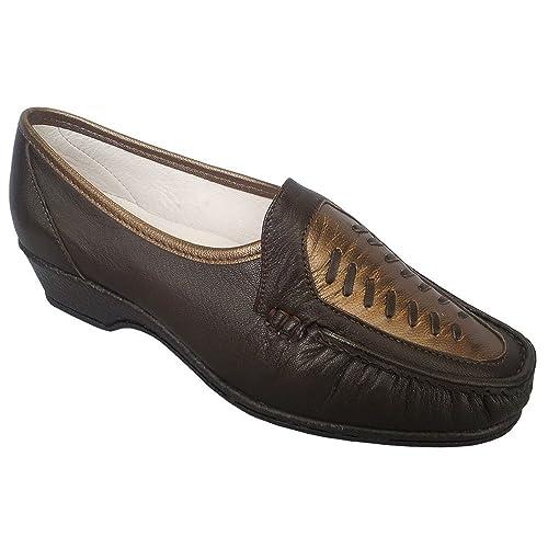 Sandpiper - Mocasines para mujer marrón Brown Copper, color marrón, talla 39: Amazon.es: Zapatos y complementos