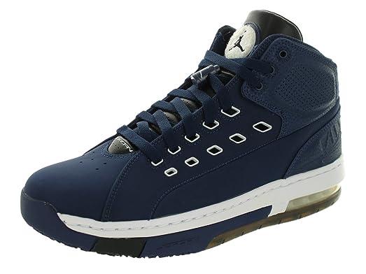 Nike Jordan Mens Jordan OlSchool Midnight Navy/White/Blk/White Basketball  Shoe 9.5