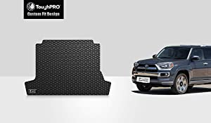 TOUGHPRO Cargo/Trunk Mat Accessories Compatible with Toyota 4Runner (with 3rd Row Seating & No Slide-Out Cargo Tray)-Black Rubber- 2010, 2011, 2012, 2013, 2014, 2015, 2016, 2017, 2018, 2019, 2020