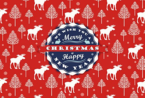 Decorative Merry Christmas Disposable Paper Placemat, Colorful Rectangle Table mat For Restauran ...