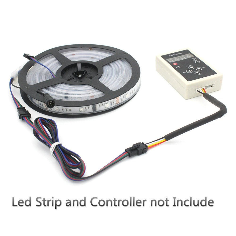 RGBZONE 10Pcs 4Pin JST Connector 1m Long Wire Male Female Cable for SMD 3528/5050 RGB color LED Strip Wire WS2801 LPD8806 RGB LED Strip