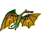 "SPACE PET DRAGON BALLOON (GREEN) 36"" Anti-Gravity Flying Floating HOVERING Toy - Amazing New Interactive STRING-LESS Balloon"