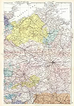 German Empire N Prussia Pomerania Mecklenburg Brandenburg Berlin