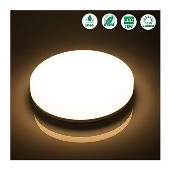 Öuesen LED Deckenleuchte 18W LED Deckenlampe Warmweiss 3000K ...