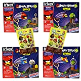 angry birds space knex - Power Brand 4 Different Angry Birds Knex Set with 2 Characters